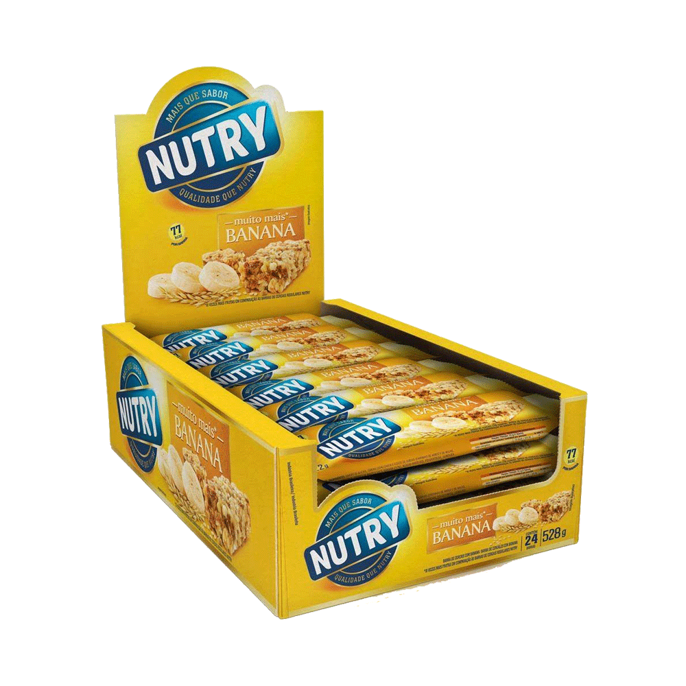 Barra de Cereal Nutry Banana 24un 22g