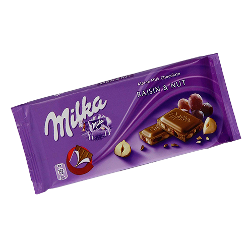 Chocolate Milka Raisin & Nuts 100g