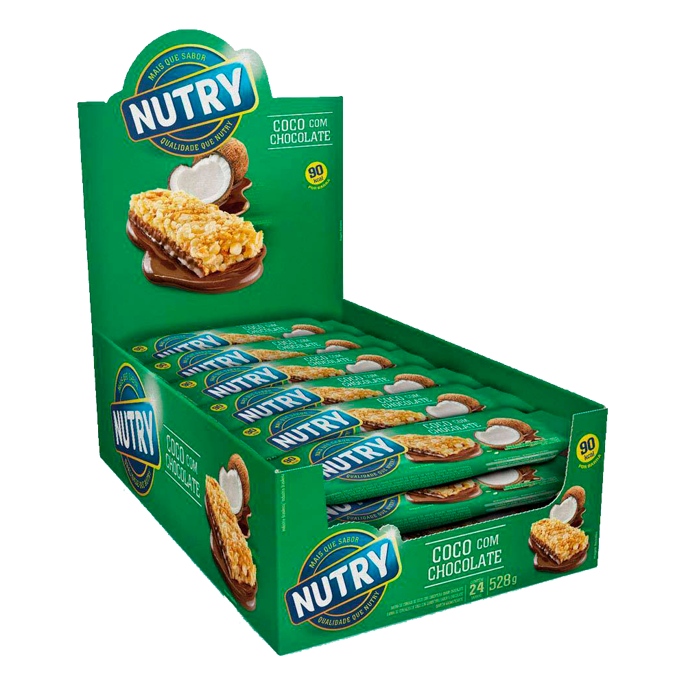 Barra de Cereal Nutry Côco com Chocolate 24un 22g
