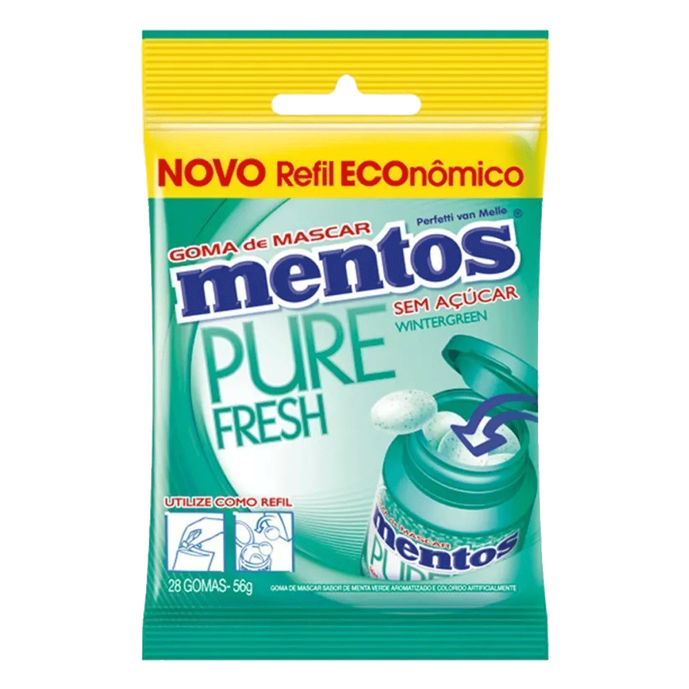 Mentos Pure Fresh Bag Wintergreen 56g