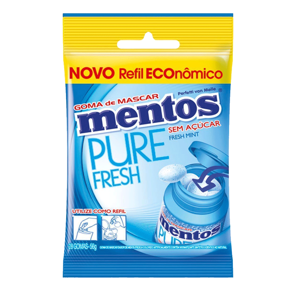 Mentos Pure Fresh Bag Fresh Mint 56g