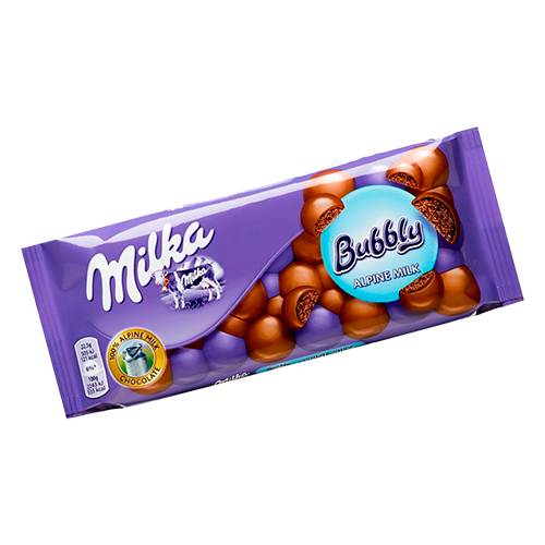 Chocolate Milka Bubbly Alpine Milk 90g