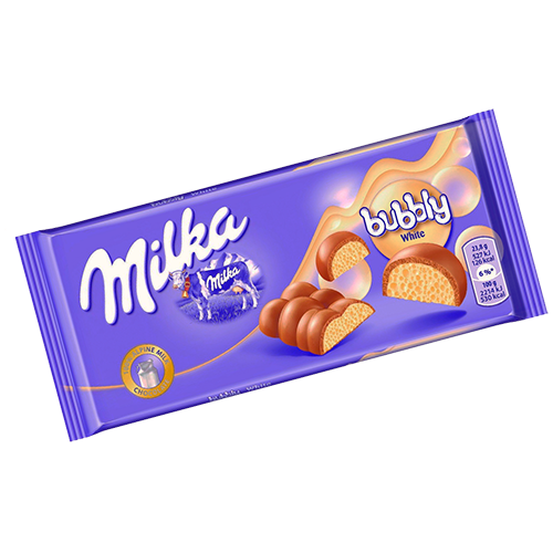 Chocolate Milka Bubbly White 93g