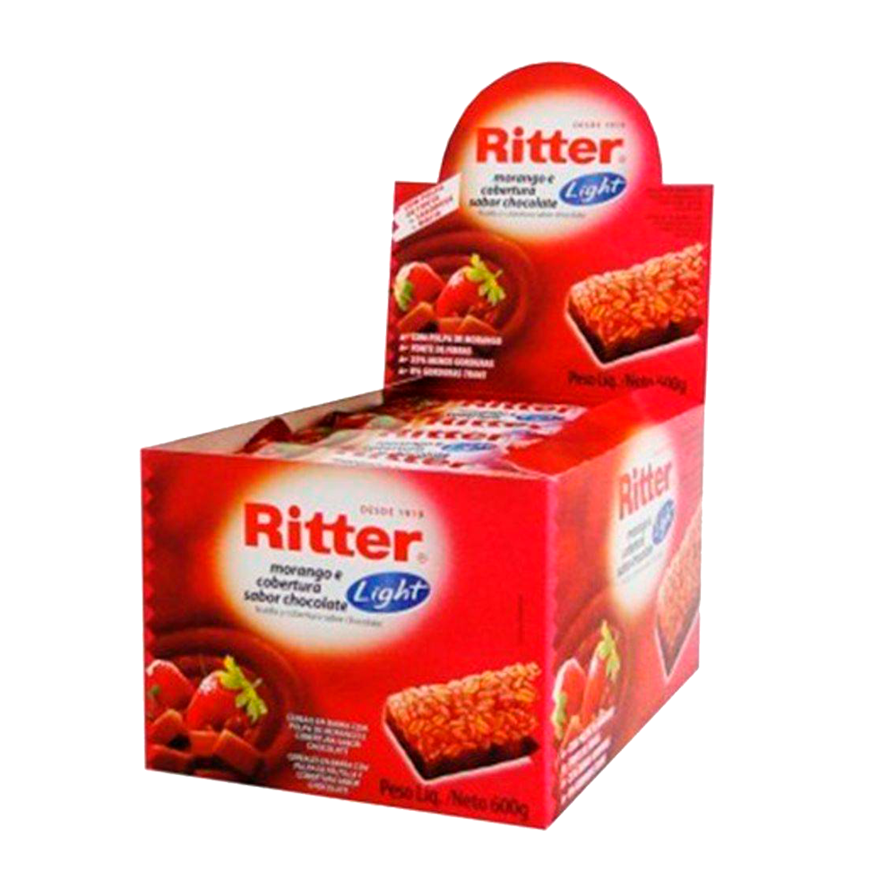 Cereal Ritter Light Morango com Chocolate 24un 25g