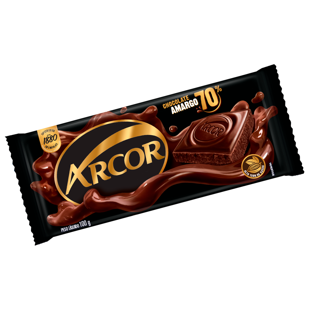 Tablete Arcor Amargo 70% Cacau 100g
