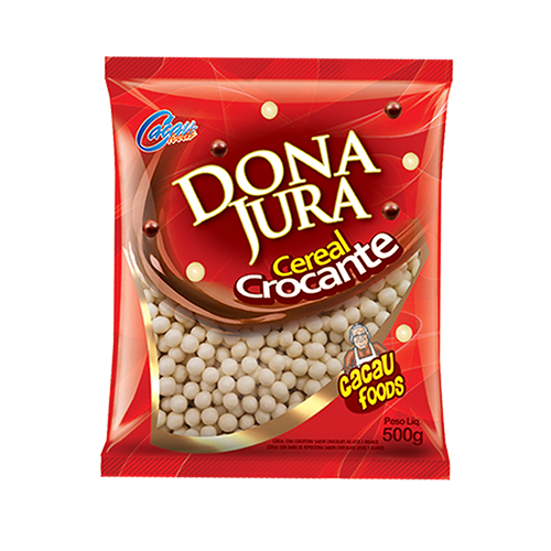 Mini Cereal Croocante Chocolate Branco 500g Cacau Foods