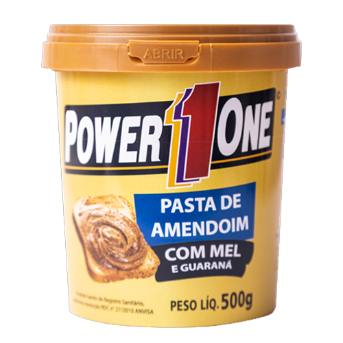 Pasta de Amendoim Mel e Guaraná PowerOne 500g