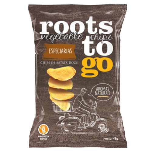 Chips de Batata Doce Roots To Go Especiarias 45g