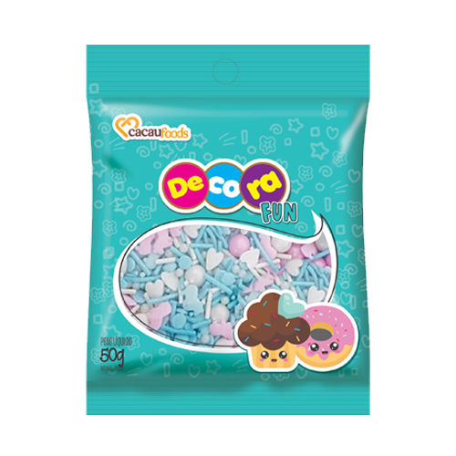 Confeito Decora Fun 50g Sweet Blue Cacau Foods