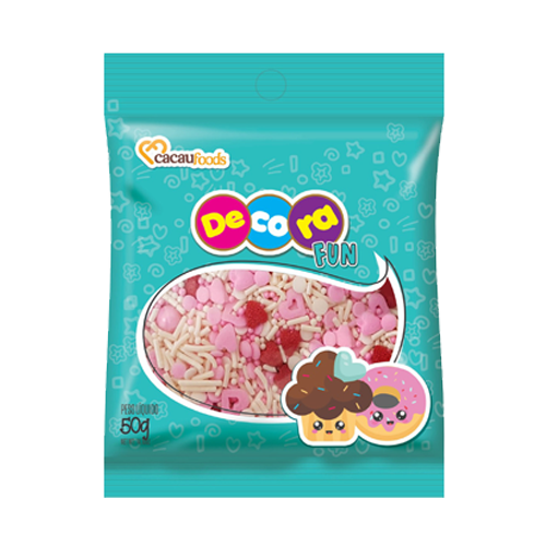 Confeito Decora Fun 50g Sweet Rose Cacau Foods