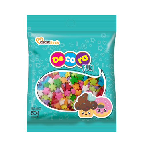 Confeito Decora Fun 50g Flowers Cacau Foods